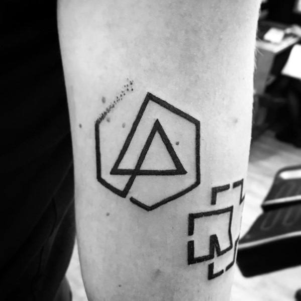 Linkin Park Tattoo For Males