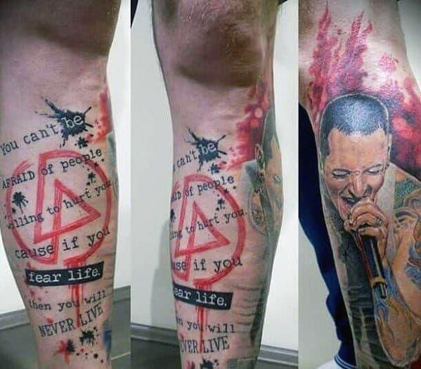 Linkin Park Tattoo On Man