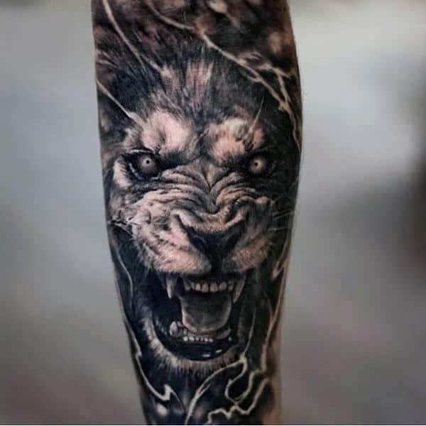 Lion Crown Tattoo For Guys