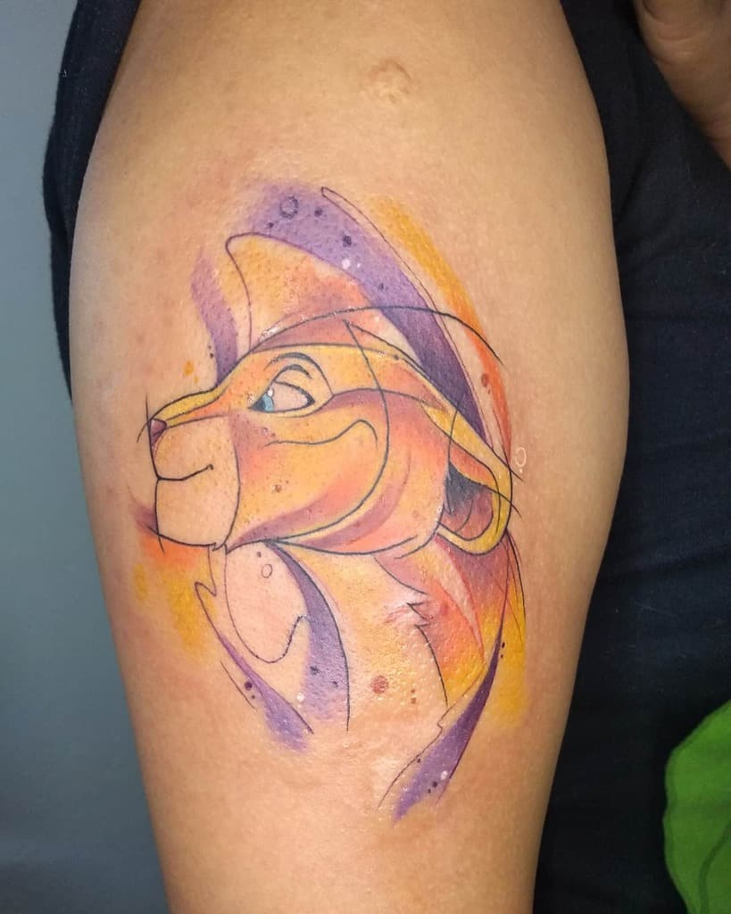 Lion King Simba Tattoo Peck Tattoo