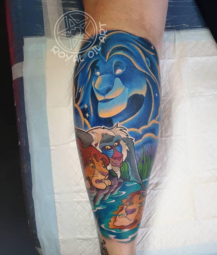 Lion King Simba Tattoo Royal Oil Art