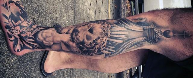 30 Lion Leg Tattoo Designs For Men – Big Cat Ink Ideas