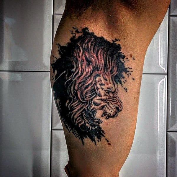 Lion Of Judah Tattoo For Men On Bicep