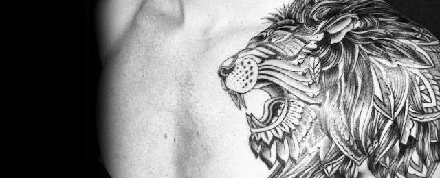 50 Lion Shoulder Tattoo Designs For Men – Masculine Ink Ideas