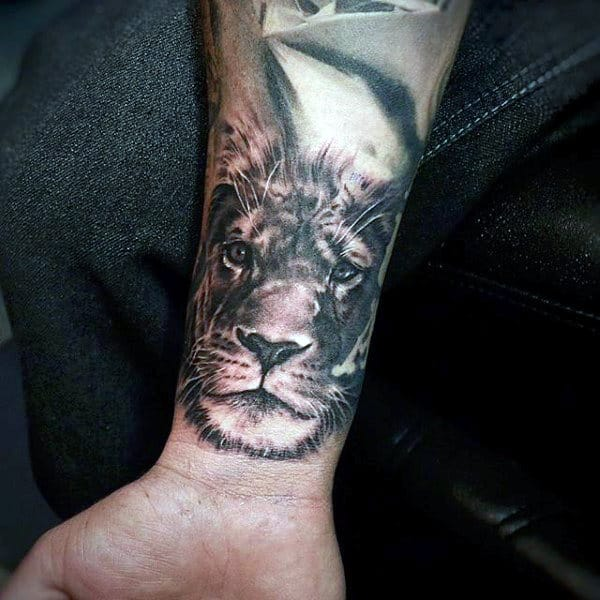 Lion Tattoos On Wrist For Man