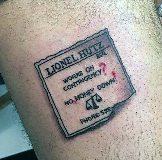Lionel Hutz Guys Tattoo Simpsons