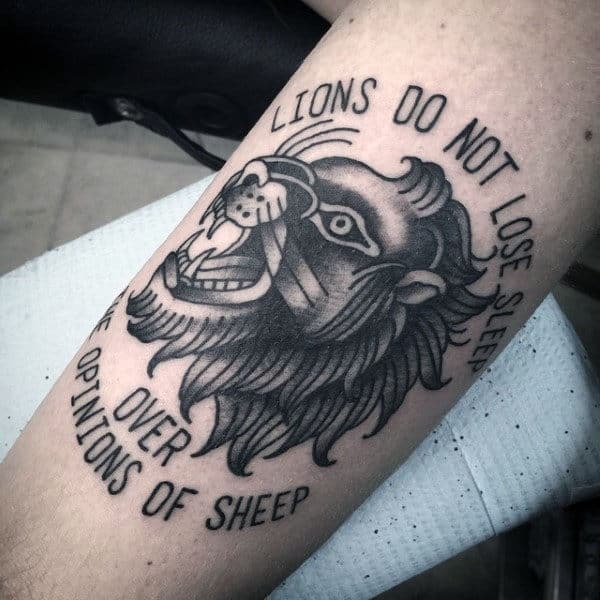 Lions Do Not Loose Sleep Over The Opinions Of Sheep Guys Traditional Forearm Tattoos