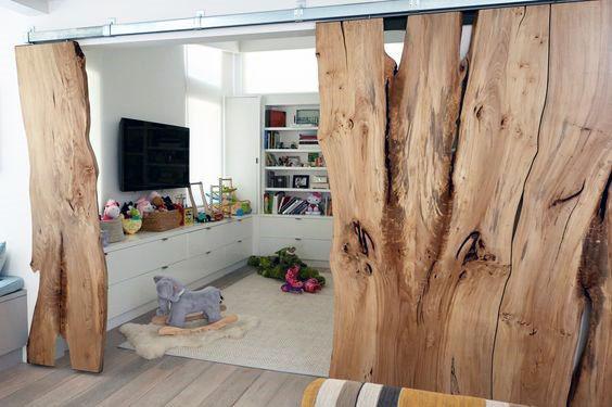 Live Edge Slab Wood Barn Door Design Inspiration