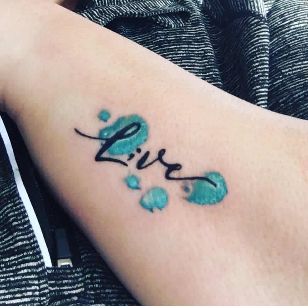 Live Script Semicolon Tattoo