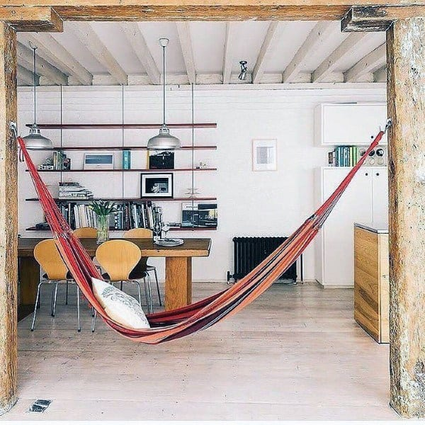 Living Area Indoor Hammock Ideas