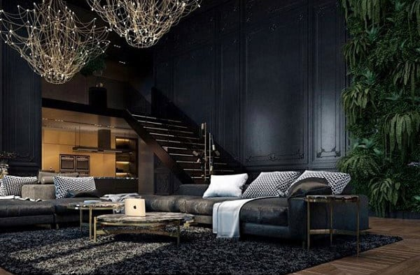 Living Room Apartment Decorating For Men