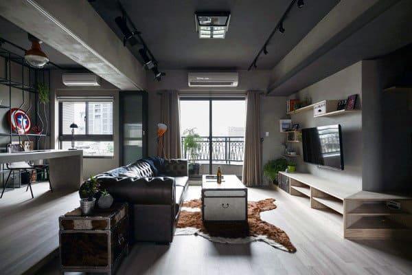 Living Room Bachelor Decorating Ideas