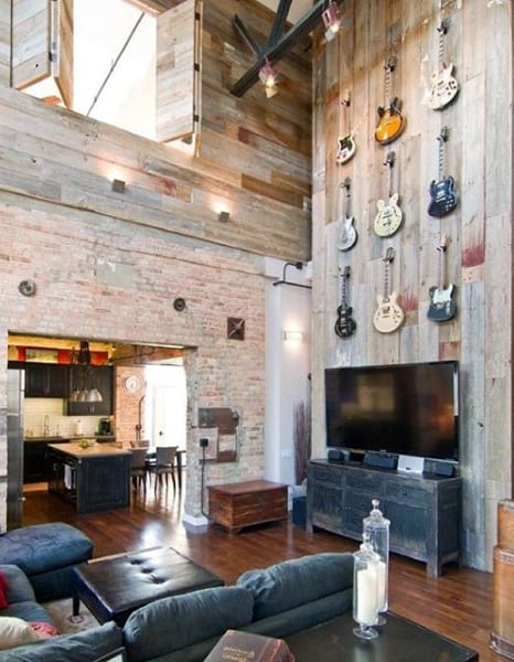 vintage large wall decor ideas for living room