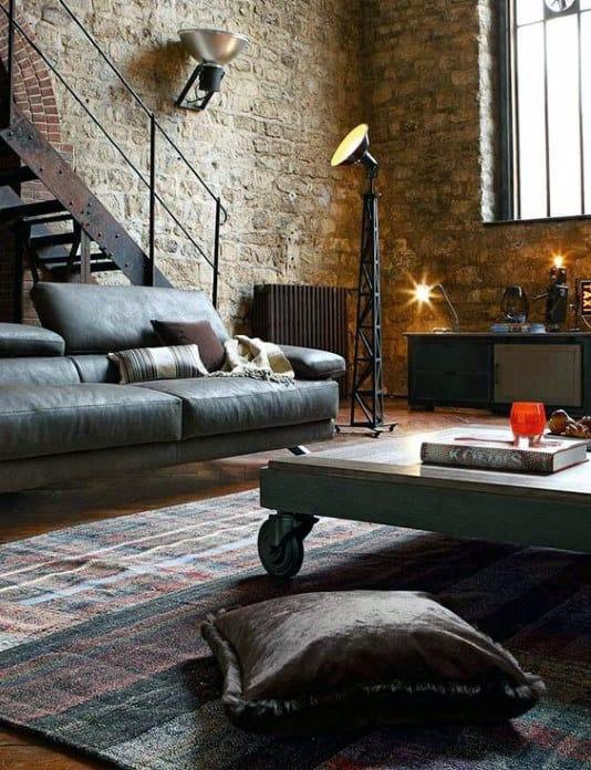 Living Room Bachelor Pad Design