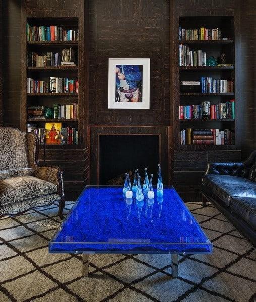 Living Room Bookshelf Ideas Fireplace