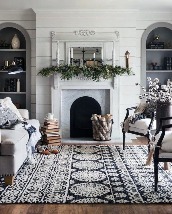 Living Room Fireplace Mantel Design Ideas