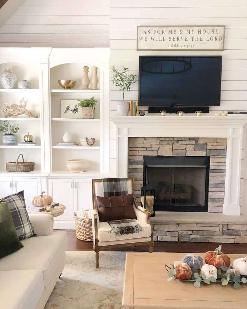living room fireplace wall ideas ourvintagenest
