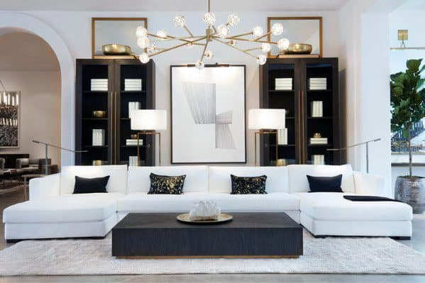 Living Room Gold Chandelier Lighting Ideas