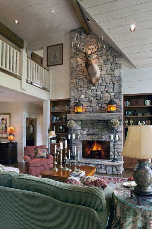 Living Room Ideas Stone Fireplace Design