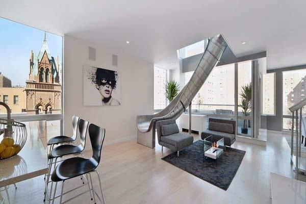 Living Room Indoor Slide Ideas