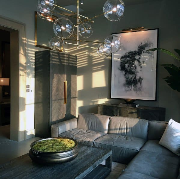 Living Room Lighting Contemporary Chandelier Ideas