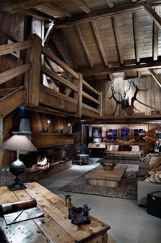 Living Room Log Cabin Interior Design Rustic Ideas