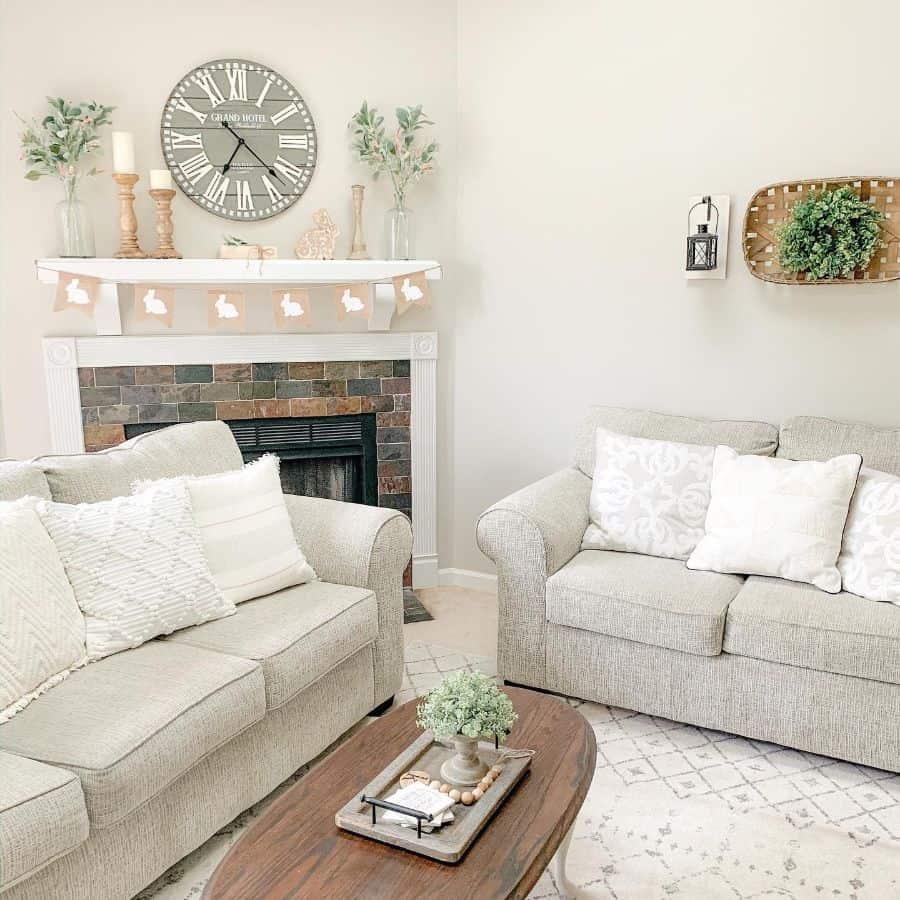 Living Room Modern Farmhouse Decor Letsstayhome Blog