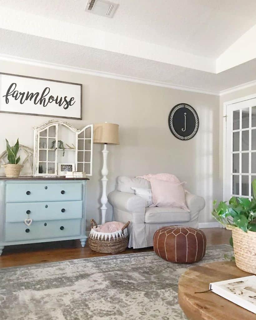 Living Room Modern Farmhouse Decor Pammyandpoppy