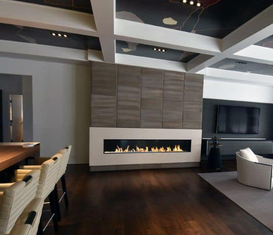 Living Room Modern Gas Fireplaces