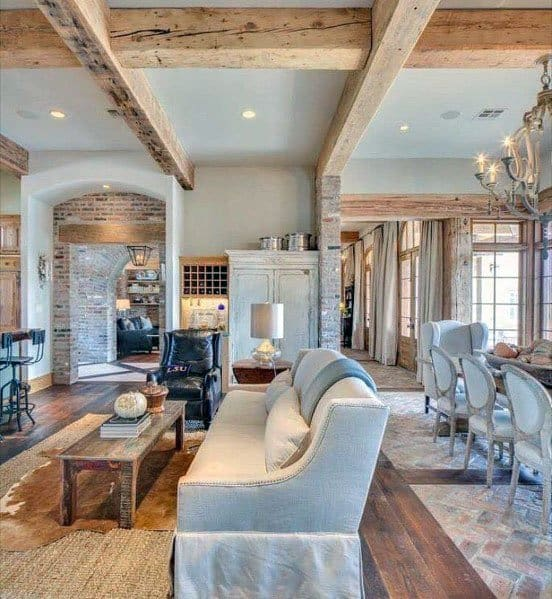 Living Room Rustic Ceiling Ideas Inspiration
