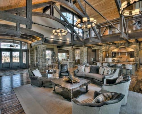 Living Room Rustic Design