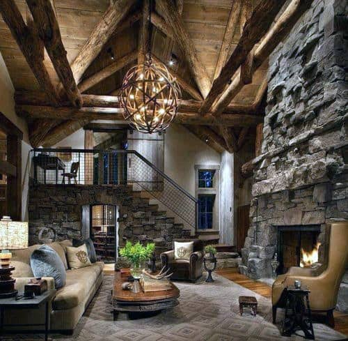 Living Room Rustic Globe Wood Chandelier Lighting