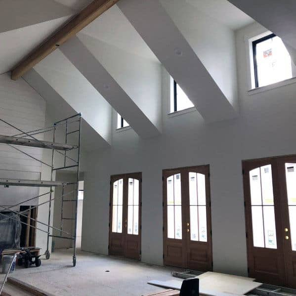 Living Room Vaulted Ceiling Ideas Living Rooms