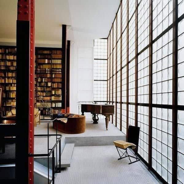 Living Room Wall Windows Home Design Ideas Glass Block