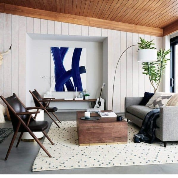 Living Room Wood Ceiling Shiplap Ideas