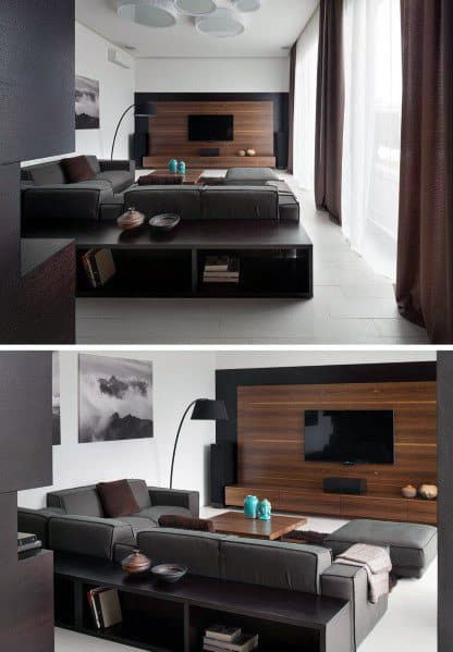 Living Room Wood Ideas For Television Walls