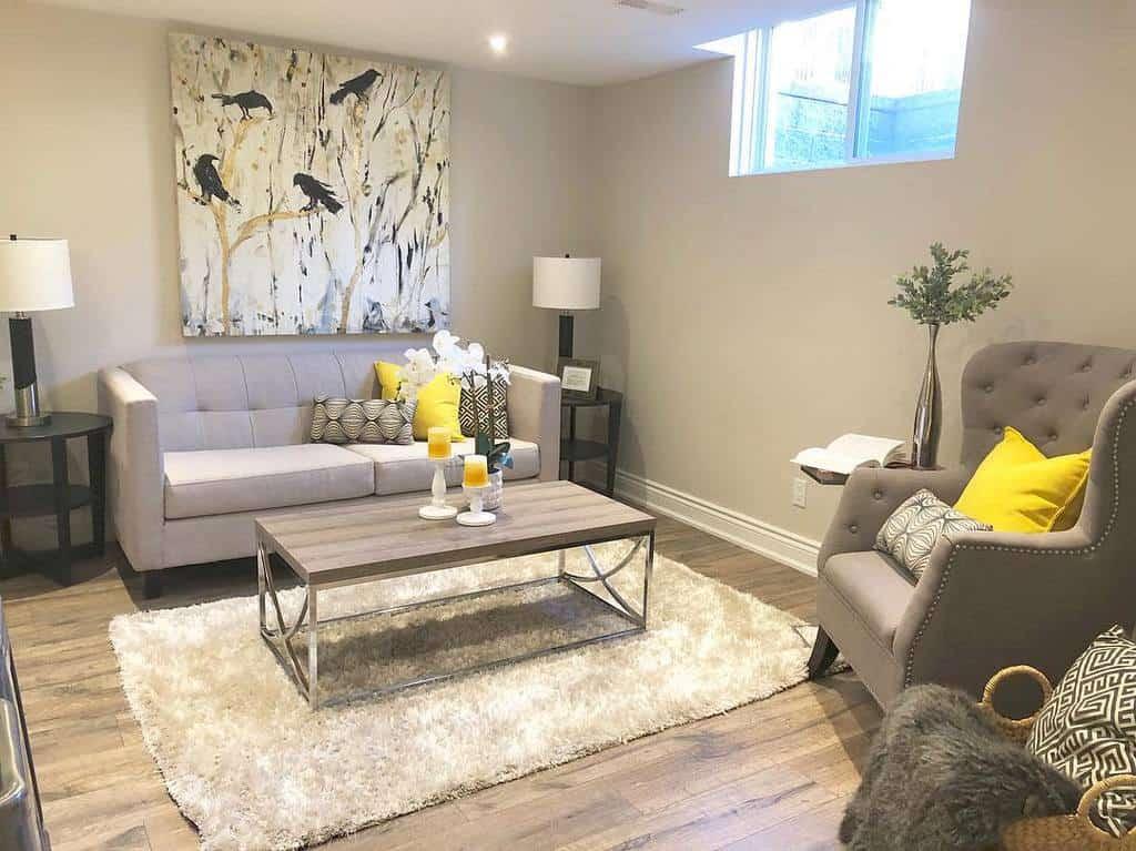 livingroom small basement ideas ilstaging