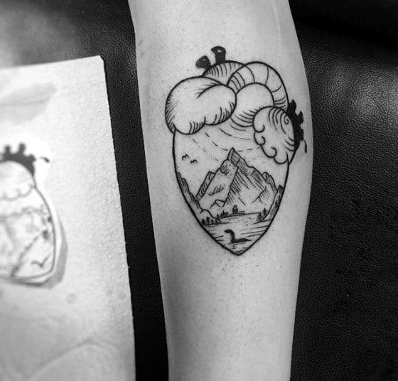 Loch Ness Monster Mens Tattoo Ideas
