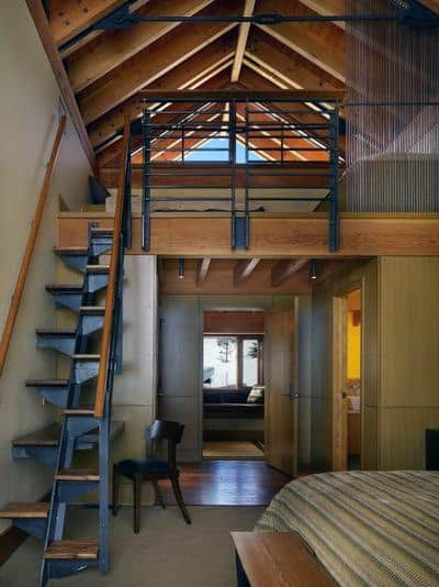 Loft Inspiration With Wood Beam Ceiling