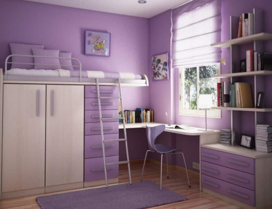 Loftbed Girls Bedroom Ideas 1