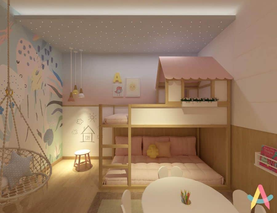 Loftbed Girls Bedroom Ideas Infantarquitetura