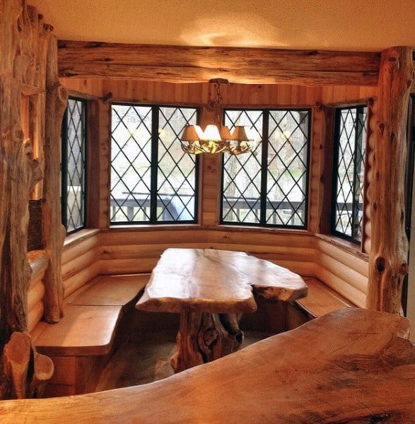 Log Cabin Breakfast Nook Designs