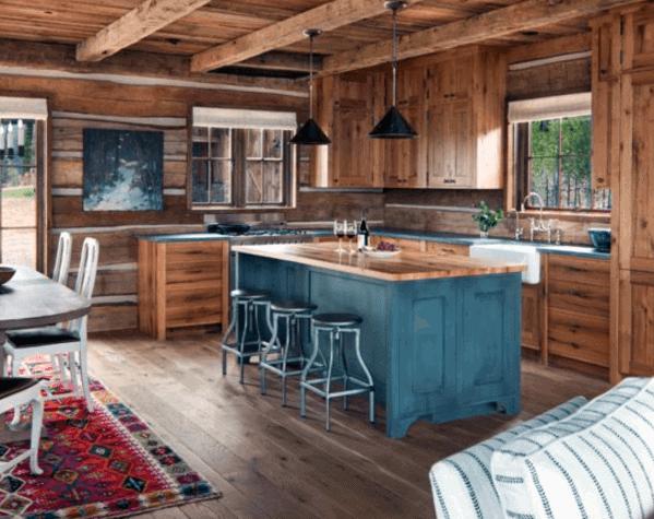Log Cabin Design Ideas Wood Backsplash For Kitchen