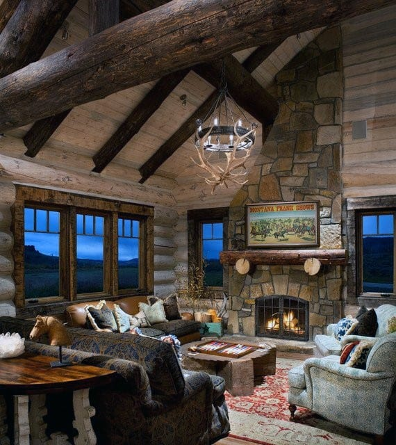 Log Home Decor: Top 60 Best Log Cabin Interior Design Ideas