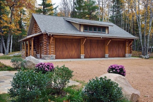 Log Cabin Ideas For Detached Garages