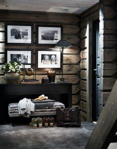 Top 60 best log cabin interior design ideas mountain for Decorate log cabin interior