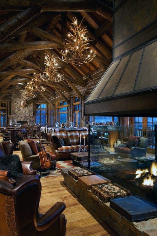 Log Cabin Interior Design Great Room
