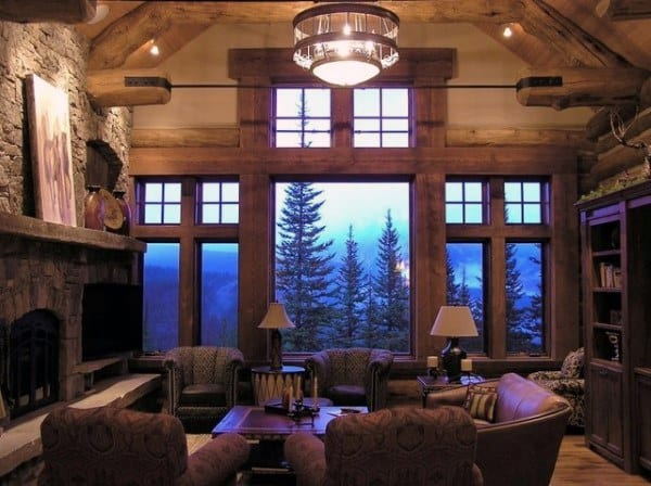 Log Cabin Interior Design Living Room