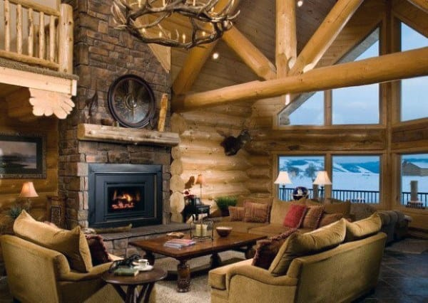Nice Log Cabin Interiors Ideas