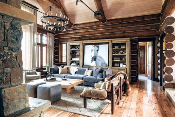 Log Cabin Vaulted Ceiling Ideas